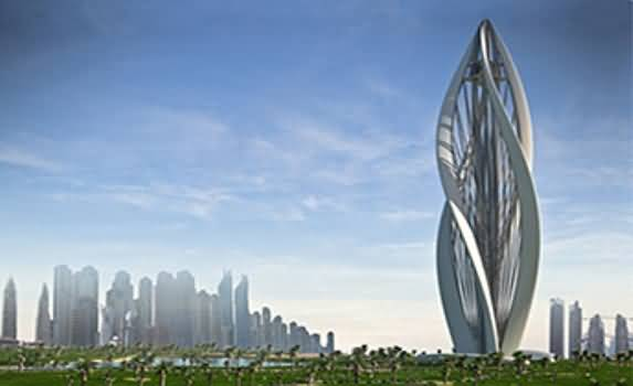 Photo of برج المزهرة قريبا في حديقة زعبيل