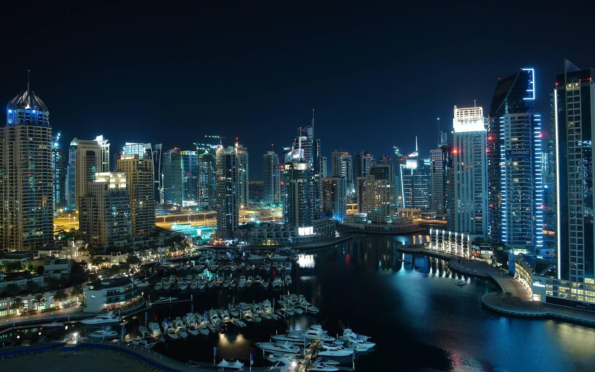 glittering city Dubai 1920×1200