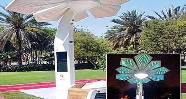 صورة النخلة الذكية تزود حدائق دبي بالانترنت المجاني