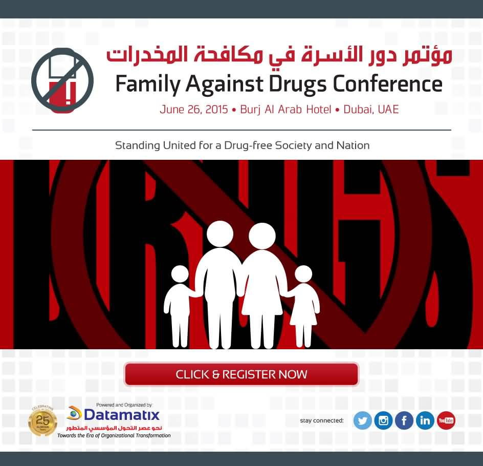 دبي تستضيف مؤتمر دور الأسرة في مكافحة المخدرات
