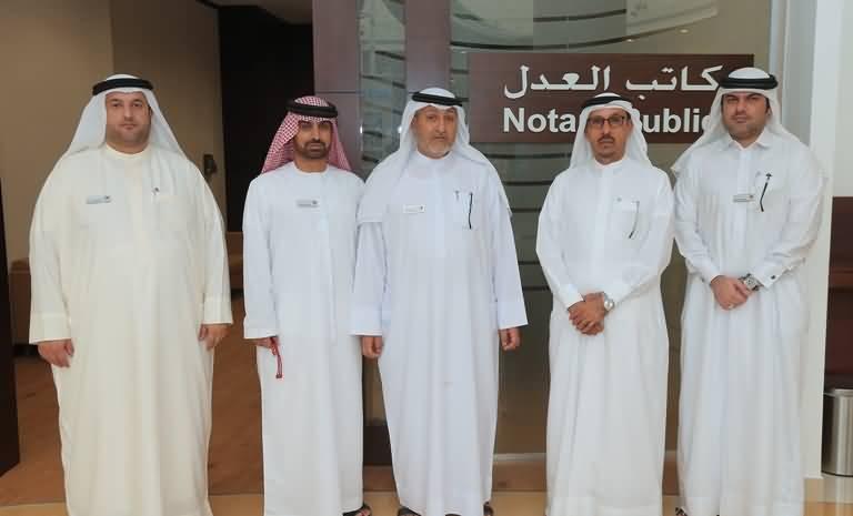 محاكم دبي تفتتح فرعاً لخدمات كاتب العدل في البرشاء مول