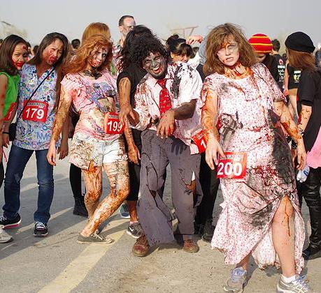 دبي تستضيف فعالية كونتاجيون رَن خلال عيد الهالوين 2015