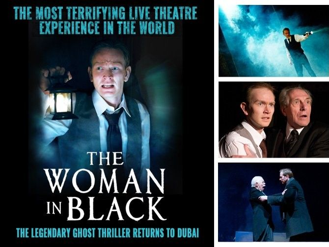 صورة مسرحية المرأة ذات الرداء الأسود تفتتح أبوابها لجمهورها بدبي خلال سنة 2015