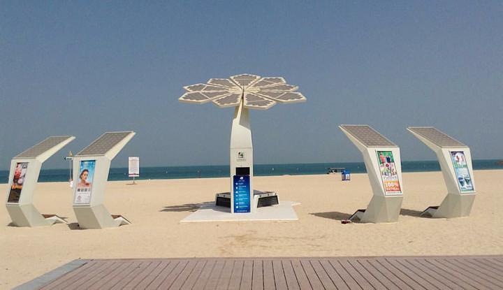 صورة أين تقع النخلات الذكية في دبي ؟