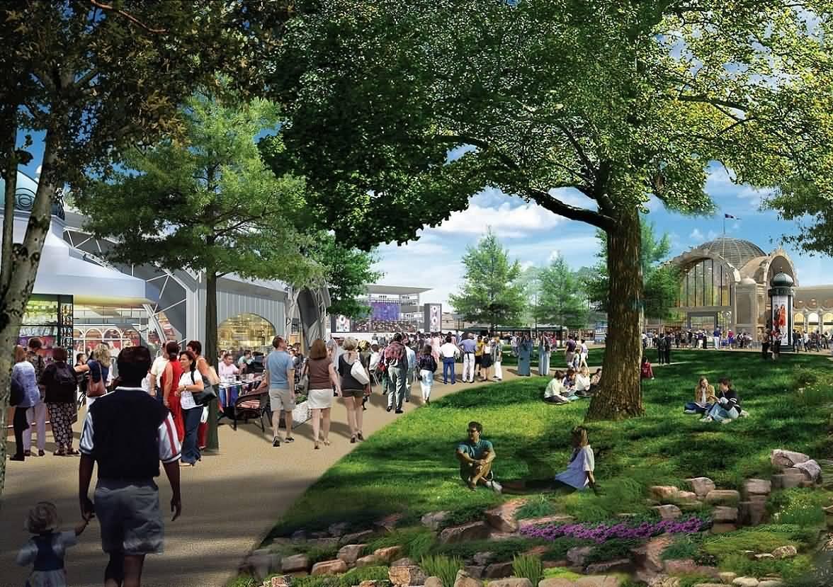 أين وصلت أعمال التشجير وتصميم الحدائق والمناظر الخضراء في مشروع باركس آند ريزورتس ؟