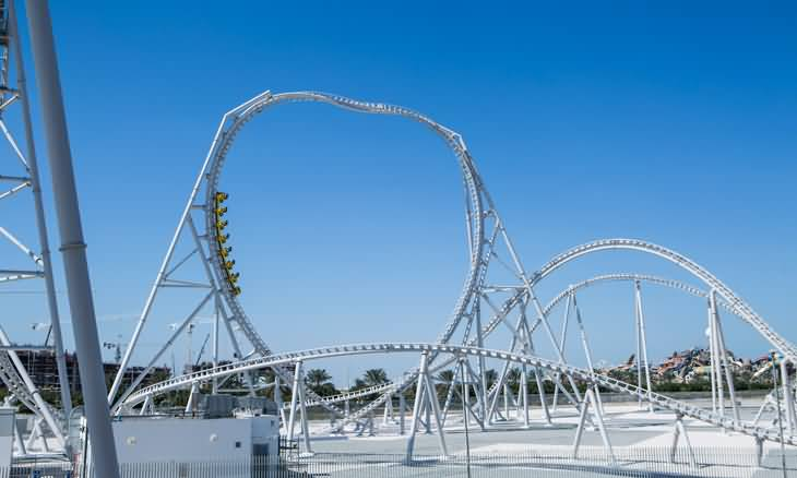 Photo of أبوظبي : أطول لعبة أفعوانية في العالم
