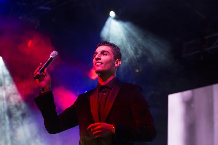 حفل المغني الموهوب محمد عساف في أبوظبي خلال سنة 2016