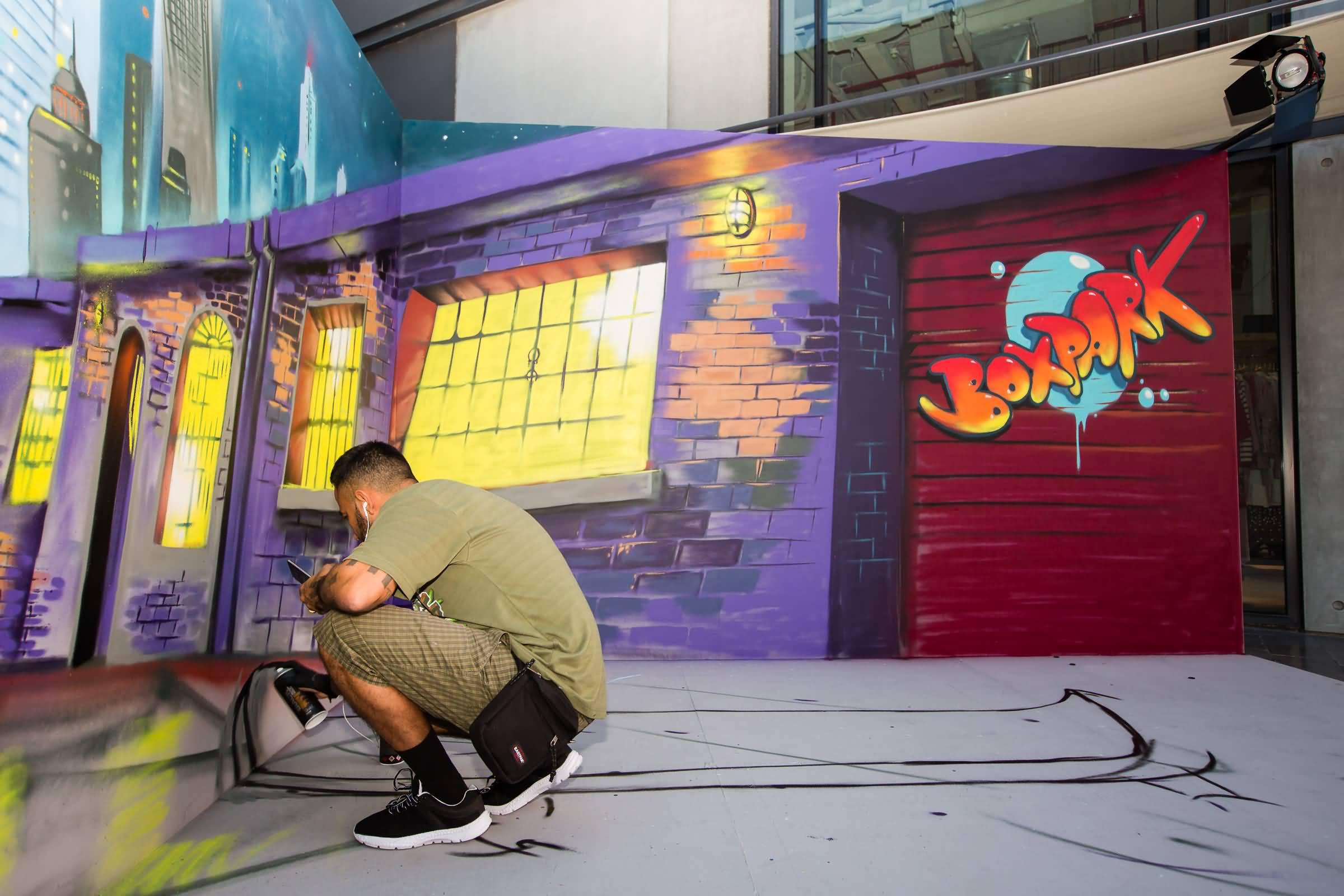 Photo of سيرجيو أوديث يعرض لوحاته ثلاثية الأبعاد في بوكس بارك