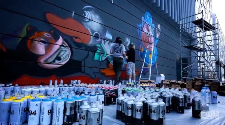بالفيديو .. مشروع جدران دبي لفن الغرافيتي