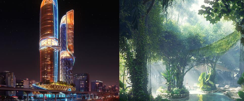 Photo of بالصور .. كيف ستبدوا أول غابة مطيرة في دبي؟