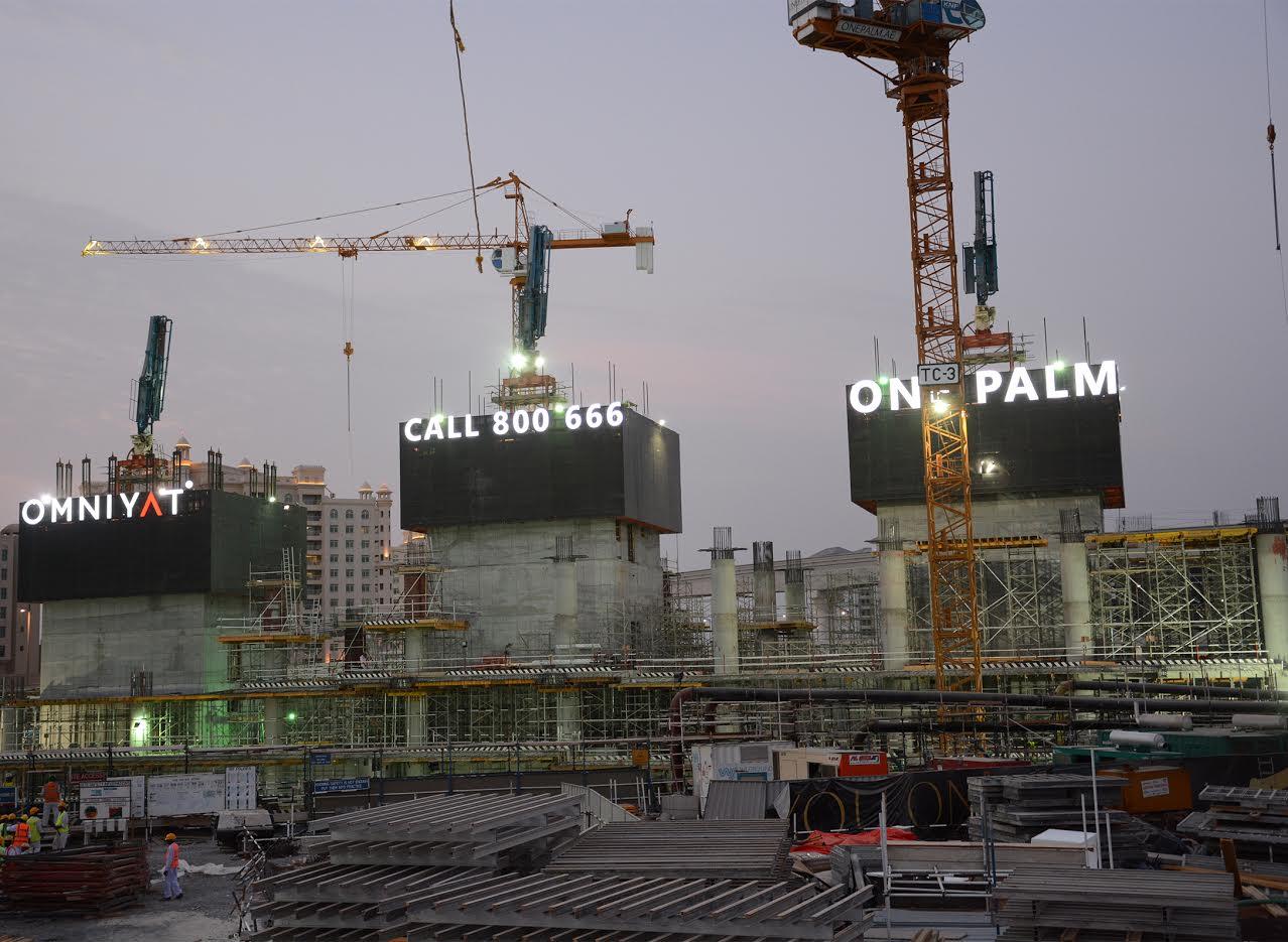 أين وصل العمل في مشروع برج وان بالم ؟