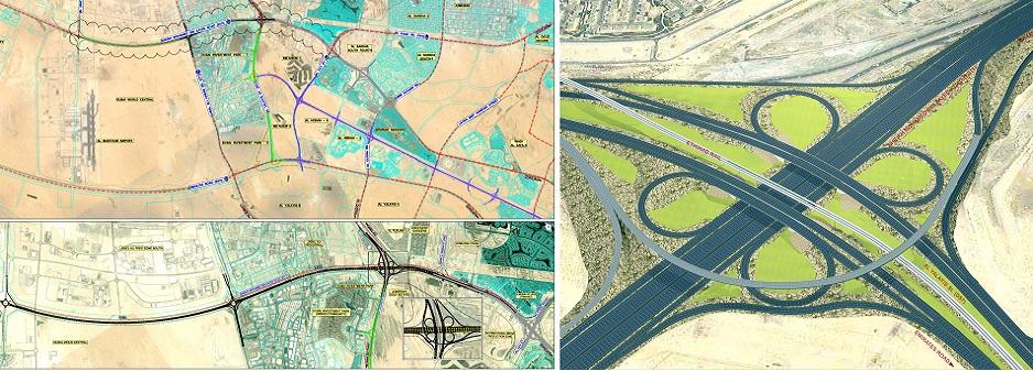 مخطط-يظهر-اهم-التقاطعات-على-شارع-الشيخ-محمد-بن-زايد