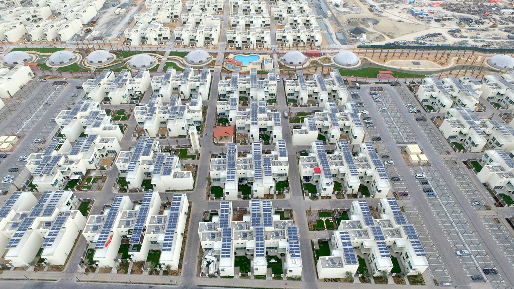 صورة بالفيديو .. تعرف على المدينة المستدامة في دبي