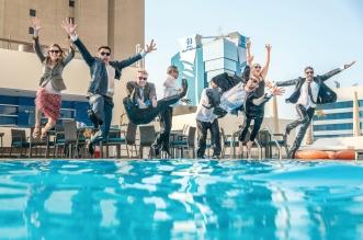 إعادة إفتتاح مسبح فندق راديسون بلو، خور ديرة دبي