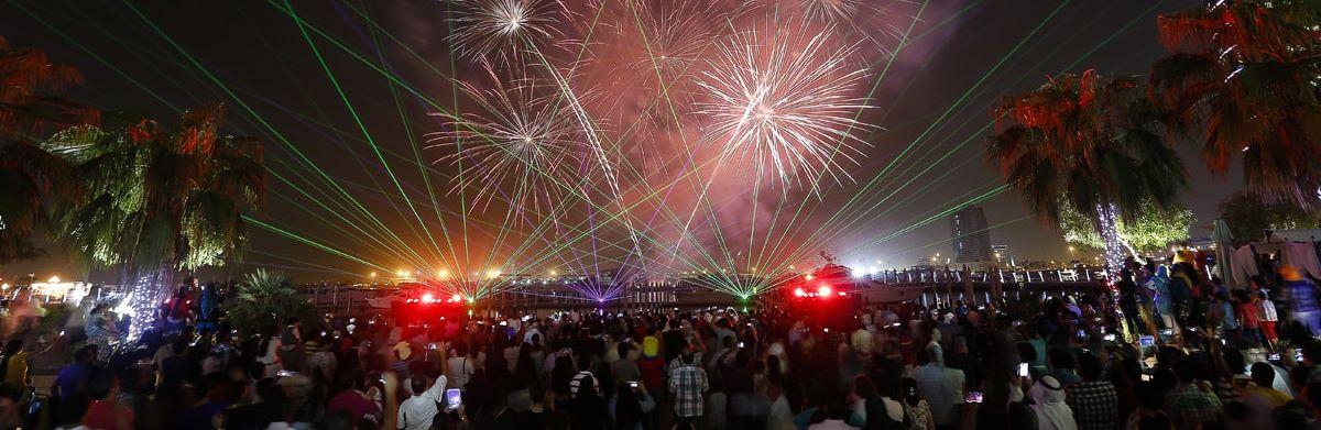 الألعاب النارية في دبي خلال عيد الأضحى 2016