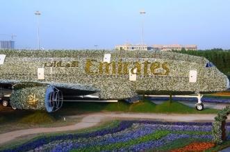 حديقة دبي المعجزة تضم طائرة إيرباص A380 مصنوعة من الأزهار