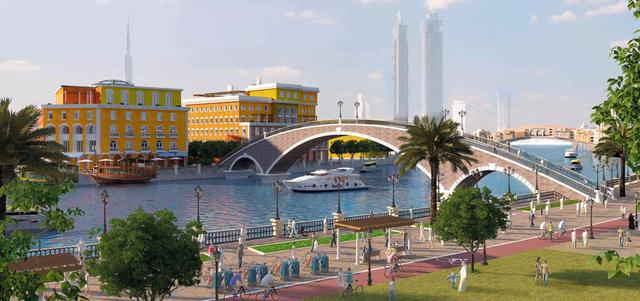 صورة تعرف على شلال قناة دبي المائية
