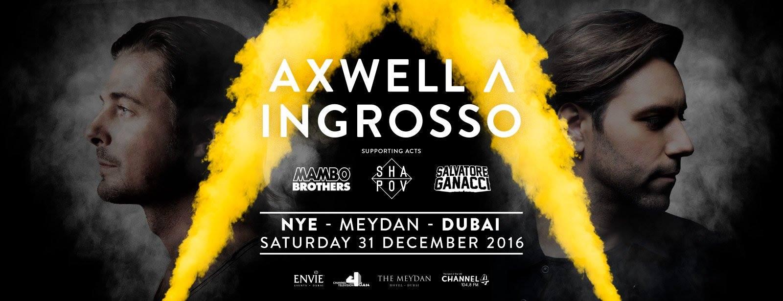 حفل الفنانين سيباستيان إنجروسو و أكسويل خلال ليلة رأس السنة 2017 في دبي
