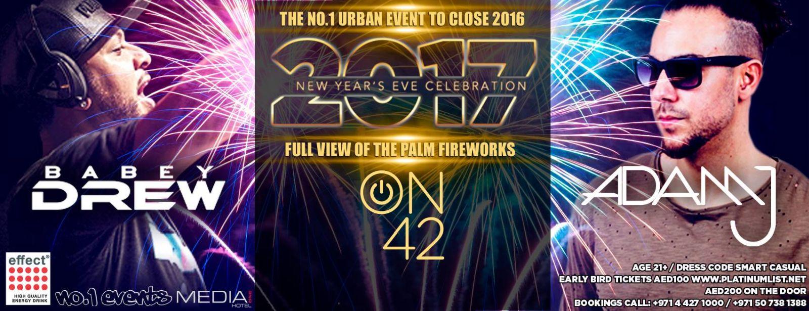 حفل الدي جي الأمريكي بابي درو في دبي ليلة رأس السنة
