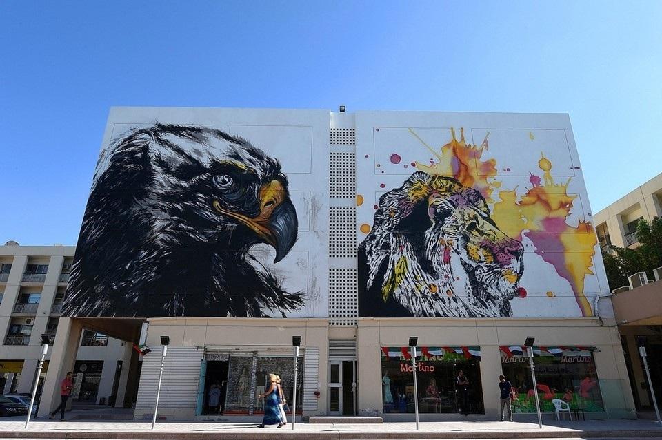 بالصور .. لوحات فن الغرافيتي في شوارع دبي