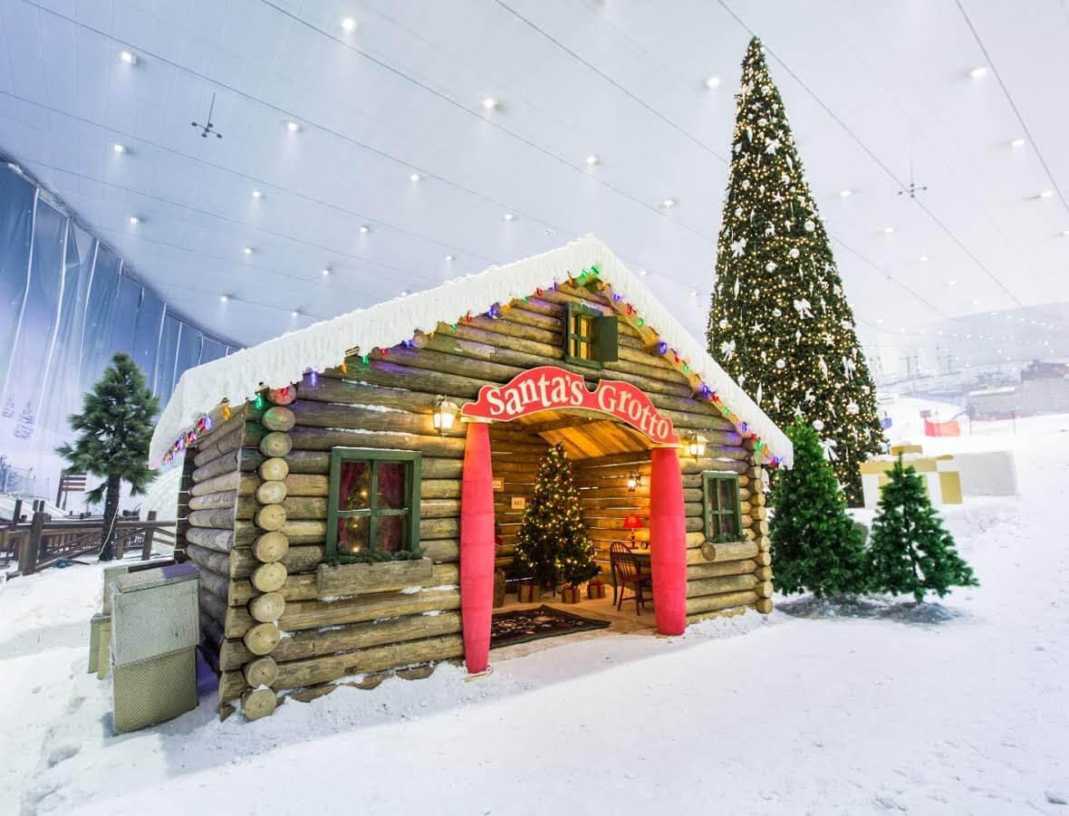 عروض سكي دبي خلال عيد الميلاد 2016