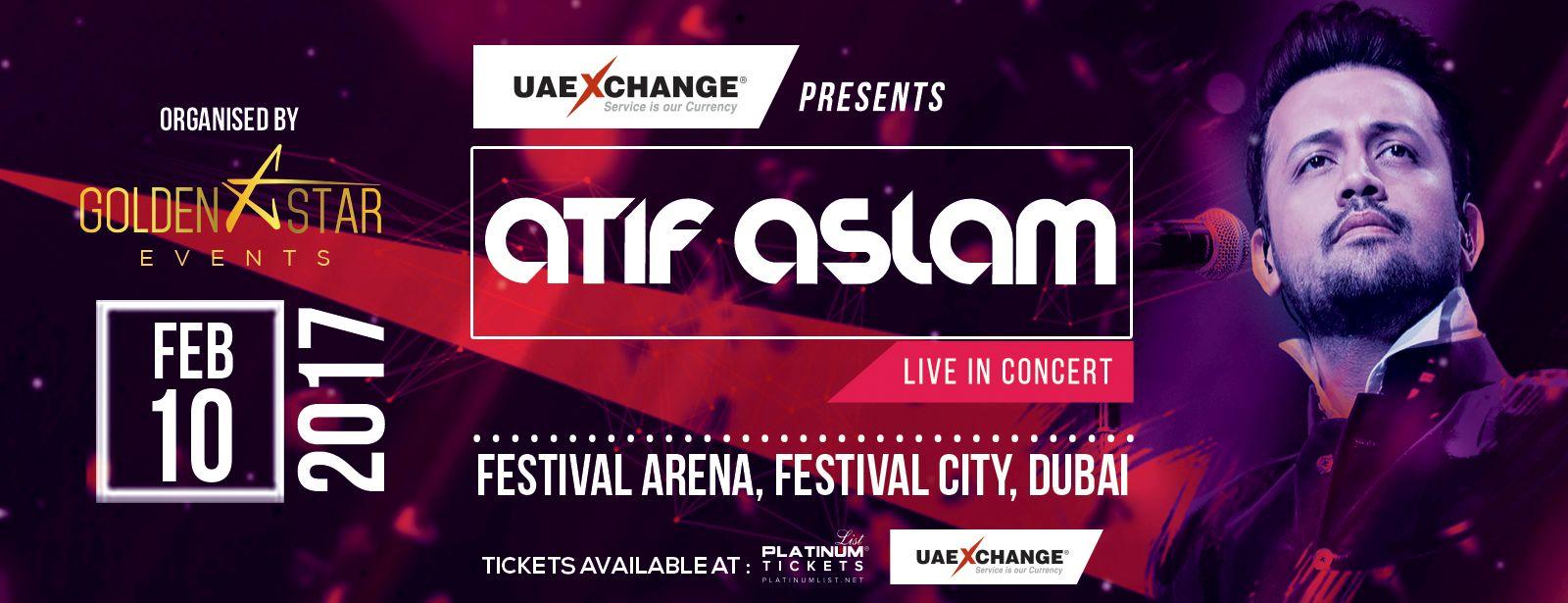حفل مغني البوب عاطف اسلم في دبي خلال شهر فبراير 2017