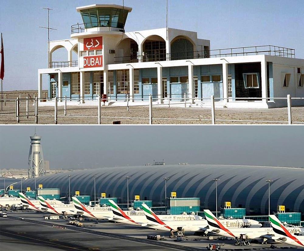 بالصور | كيف تطور مطار دبي الدولي منذ إفتتاحه ؟