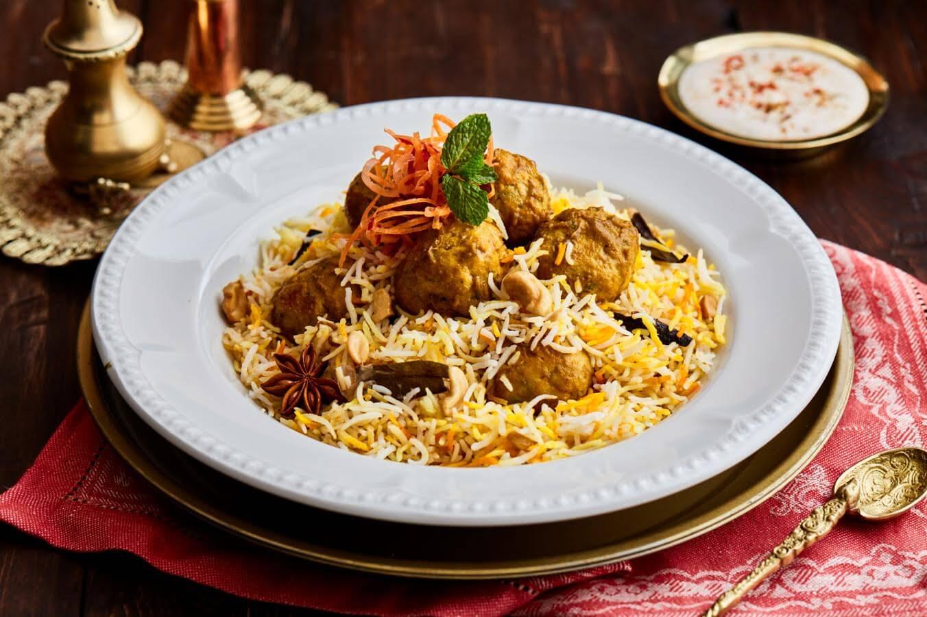 مطعم قصر الهند يطلق قائمة مأكولات برياني ايه كاس