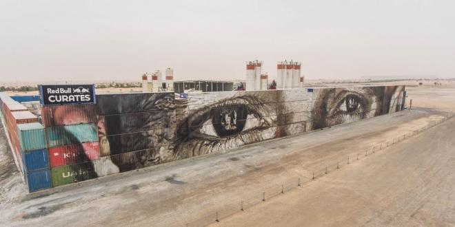 بالصور جدارية مرسومة على 63 حاوية شحن في دبي