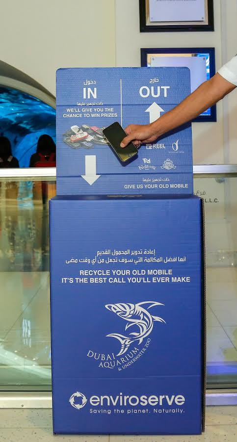 دبي أكواريوم و حديقة الحيوانات المائية تطلقان مبادرة تدوير الهواتف المتحركة القديمة
