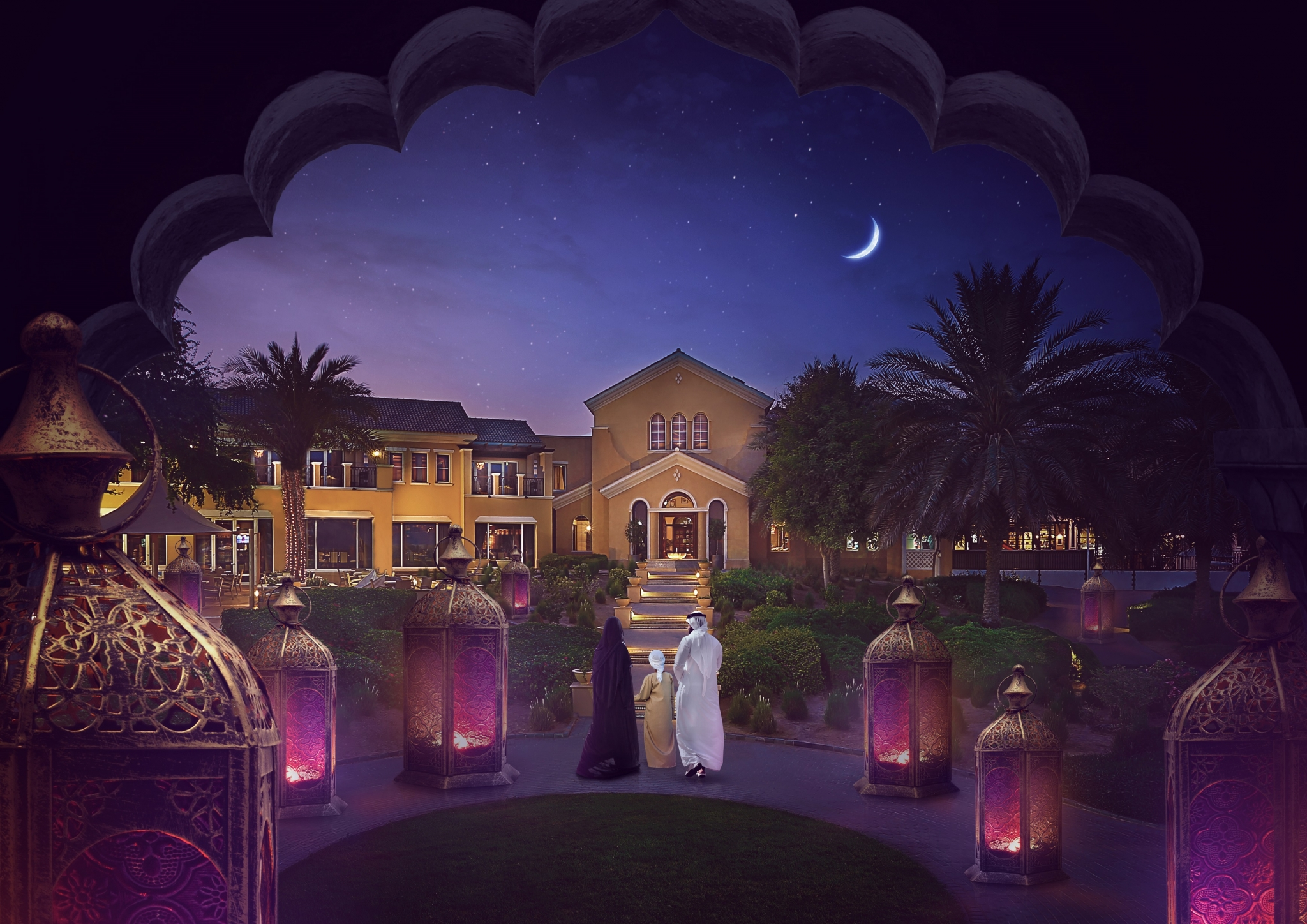 صورة رمضان في نادي المرابع العربية للجولف