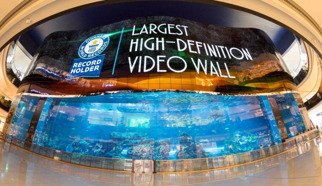 Dubai Aquarium&Underwater Zoo breaks Guinness World Records 2
