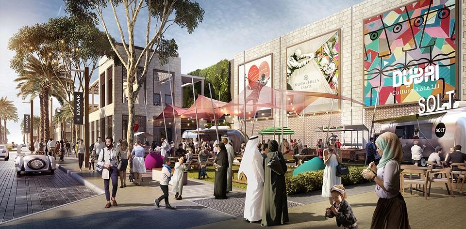Dubai Hills Mall Exterior Boulevard