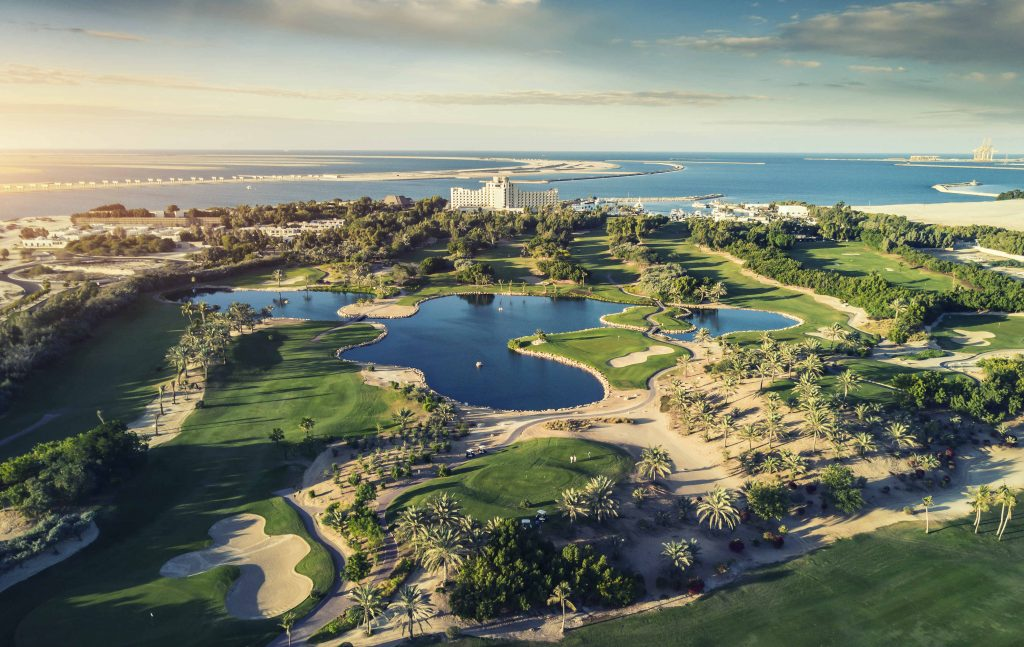 JA Jebel Ali Beach Hotel – Golf Course Aerial View-1
