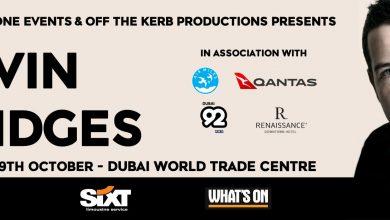 صورة عرض الكوميديان كيفن بريدجس في دبي خلال أكتوبر 2017