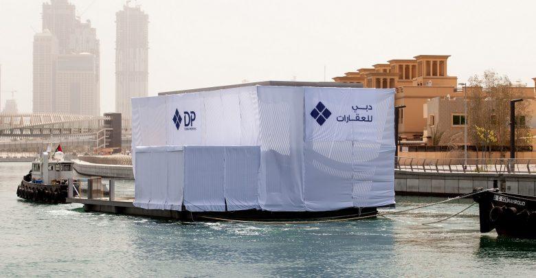 دبي للعقارات تفتتح أولى البيوت العائمة في مراسي الخليج التجاري