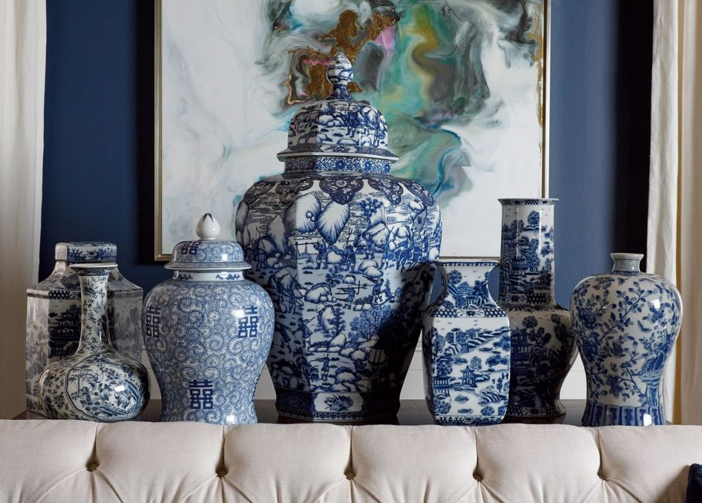 Copy of blue and white ginger jar room
