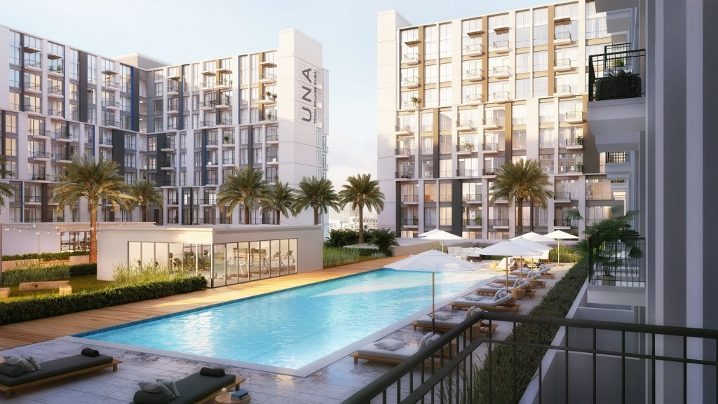 UNA at Town Square Dubai by Nshama – Pool View