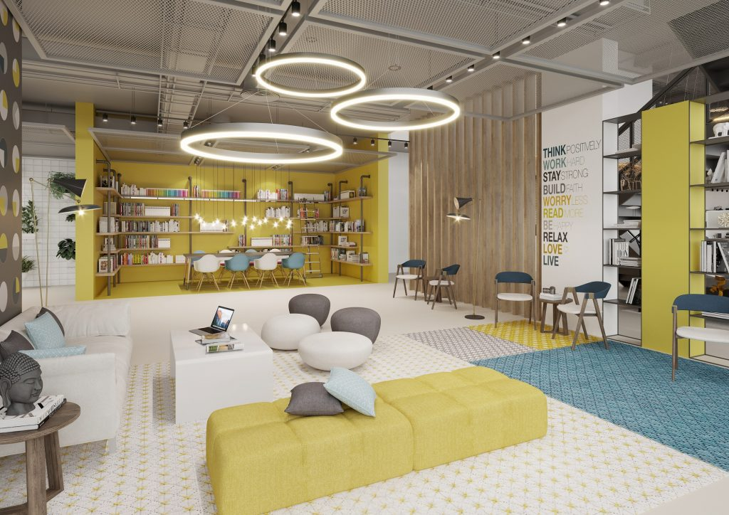 UNA at Town Square Dubai by Nshama – Reading Area