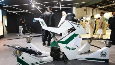 Photo of بالفيديو تعرف على دراجات شرطة دبي الطائرة