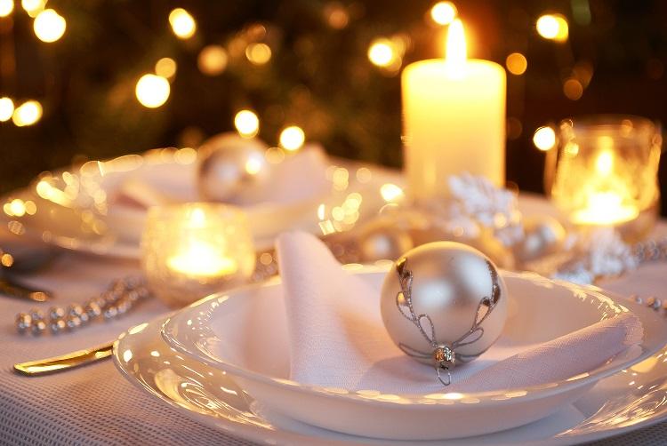 Table for Christmas dinner