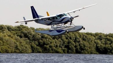 رحلات الطائرة المائية من عجمان إلى دبي