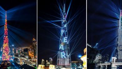 Photo of واجهة برج خليفة تقدم رحلة مفعمة بالنور والإبداع