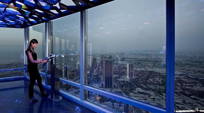 طايق المشاهدة في برج خليفة