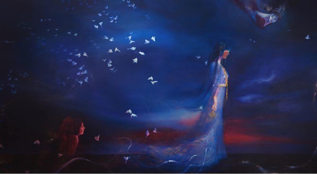 لوحة دبي من أعمال الشيخة ميثاء بنت عبيد بن ثاني آل مكتوم