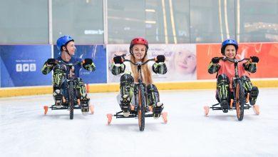 Photo of منطقة خاصة لفعاليات الدراجات الثلجية في حلبة دبي للتزلج