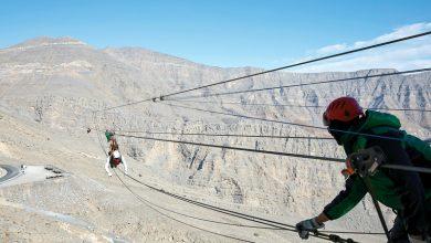 صورة عرض مميز لتجربة أطول مسار انزلاقي في العالم