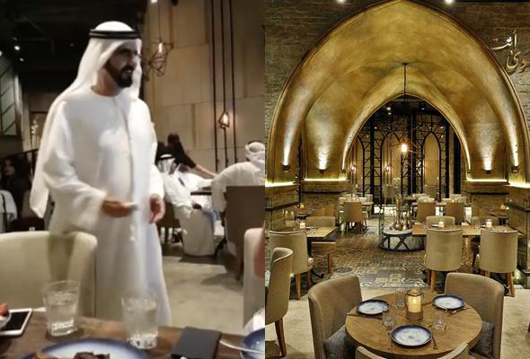 الشيخ محمد في مطعم سراج
