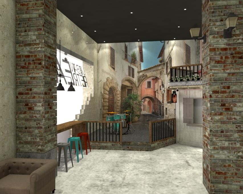 منصة تقديم الطعام Urban RetrEAT في ياس مول