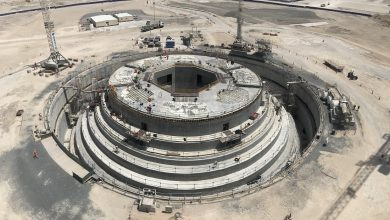 Photo of صب الأساسات الخرسانية في برج خور دبي قبل الموعد المحدد